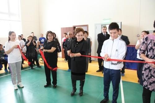 Торжественное открытие спортивного зала